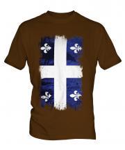 Quebec Grunge Flag Mens T-Shirt