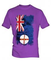 New South Wales Grunge Flag Mens T-Shirt