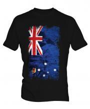 Victoria Grunge Flag Mens T-Shirt