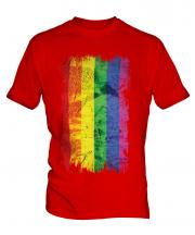 Gay Pride Grunge Flag Mens T-Shirt
