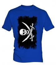 Pirate Grunge Flag Mens T-Shirt