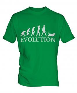 Basset Hound Evolution Mens T-Shirt