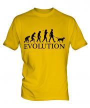 German Wirehaired Pointer Evolution Mens T-Shirt