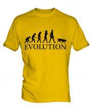 Golden Retriever Evolution Mens T-Shirt