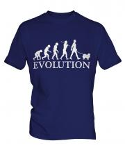Keeshond Evolution Mens T-Shirt