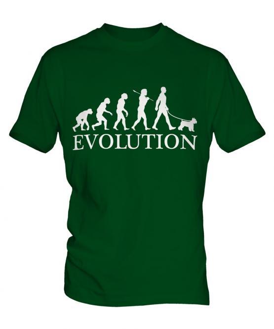 Miniature Schnauzer Evolution Mens T-Shirt