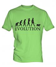 Norwegian Elkhound Evolution Mens T-Shirt