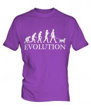 Welsh Springer Spaniel Evolution Mens T-Shirt