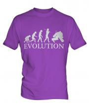 Ice Hockey Goalkeeper Evolution Mens T-Shirt