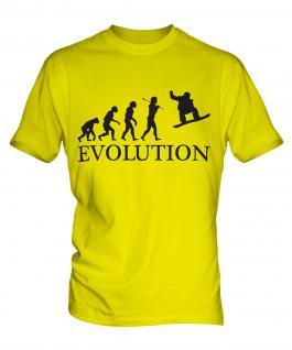 Snowboarder Evolution Mens T-Shirt