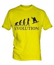 Snowboarder Evolution Mens T-Shirt