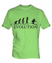 Downhill Skiing Evolution Mens T-Shirt