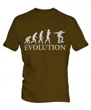 Skateboarder Evolution Mens T-Shirt