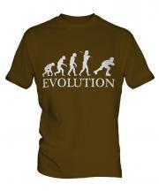 Roller Blading Evolution Mens T-Shirt