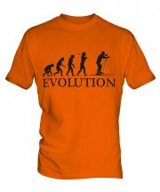 Cross Country Skiing Evolution Mens T-Shirt