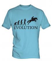 Horse Racing Steeplechase Evolution Mens T-Shirt
