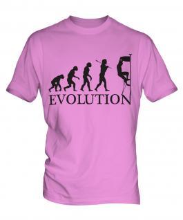 Rock Climbing Evolution Mens T-Shirt