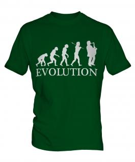 Saxophone Player Evolution Mens T-Shirt