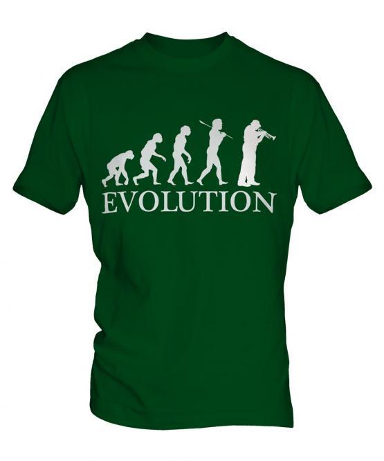 Cornet Player Evolution Mens T-Shirt