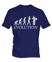 Accordian Player Evolution Mens T-Shirt