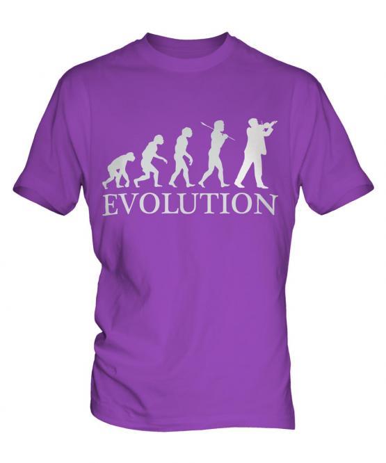 Violinist Evolution Mens T-Shirt
