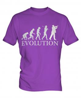 Violinist Evolution Mens T-Shirt