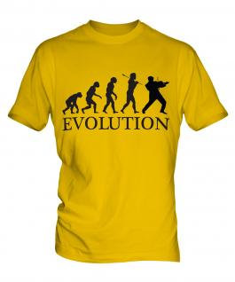 Rock Violinist Evolution Mens T-Shirt