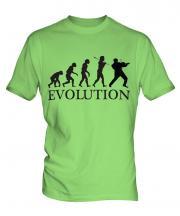 Rock Violinist Evolution Mens T-Shirt