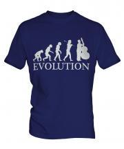 Double Bass Player Evolution Mens T-Shirt
