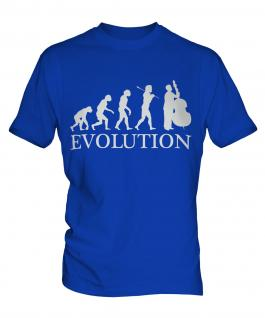 Double Bass Player Evolution Mens T-Shirt