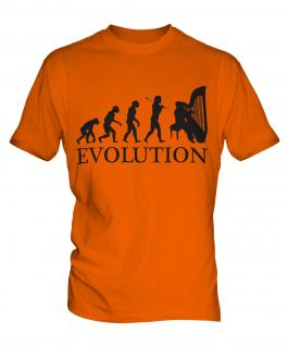 Harp Player Evolution Mens T-Shirt