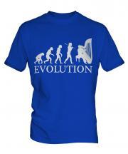 Harp Player Evolution Mens T-Shirt