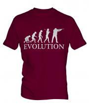Clay Pigeon Shooting Evolution Mens T-Shirt