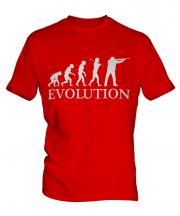 Clay Pigeon Shooting Evolution Mens T-Shirt