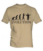 Darts Player Evolution Mens T-Shirt