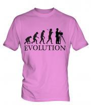 Vintage Photographer Evolution Mens T-Shirt