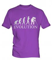 Retro Photographer Evolution Mens T-Shirt