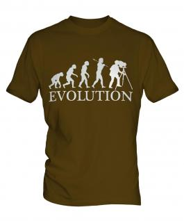 Retro Photographer Evolution Mens T-Shirt