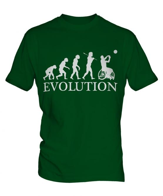 Wheelchair Basketball Evolution Mens T-Shirt