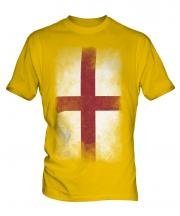 England St George Faded Flag Mens T-Shirt