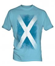 Scotland Faded Flag Mens T-Shirt