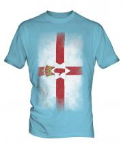 Northern Ireland Faded Flag Mens T-Shirt