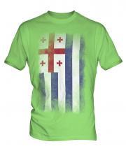 Ajaria Faded Flag Mens T-Shirt
