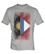 Antigua And Barbuda Faded Flag Mens T-Shirt