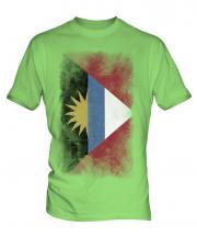 Antigua And Barbuda Faded Flag Mens T-Shirt
