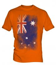 Australia Faded Flag Mens T-Shirt