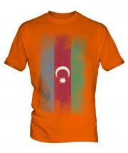 Azerbaijan Faded Flag Mens T-Shirt
