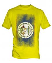 Belize Faded Flag Mens T-Shirt
