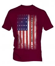 Bikini Atoll Faded Flag Mens T-Shirt