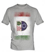 Bosnia And Herzegovina Federation Faded Flag Mens T-Shirt
